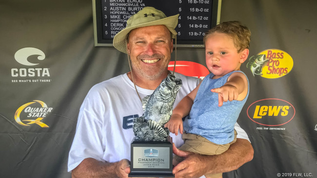 VIRGINIA'S ELROD WINS T-H MARINE FLW BASS FISHING LEAGUE