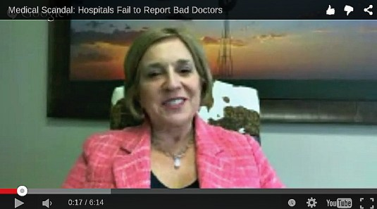 In today's video, Editor in Chief Larry Bodine interviews Dallas personal injury attorney Kay Van Way, who has represented patients harmed by bad doctors.