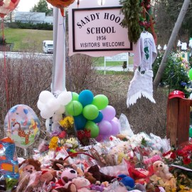 Twenty children and six adults tragically gunned down by an AR-15 automatic rifle on December 14, 2012.