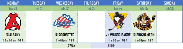 Schedule Feb 21