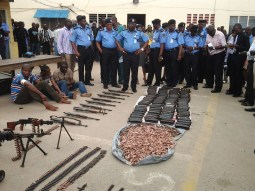 Image result for Kano Police Command parades suspects with concealed weapons