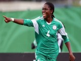 Image result for Oshoala presents jerseys to Rivers Angels