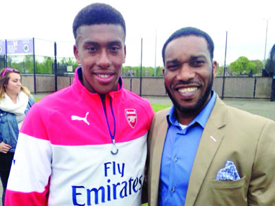 Image result for Super Eagles' Alex Iwobi flattered to be likened to Okocha