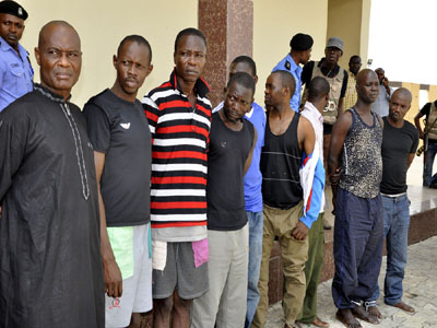 Police parade 14 officers, 45 others  for 'kidnapping'