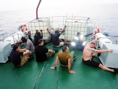 19 suspects, two vessels held as Nigerian, U.S. navies join forces