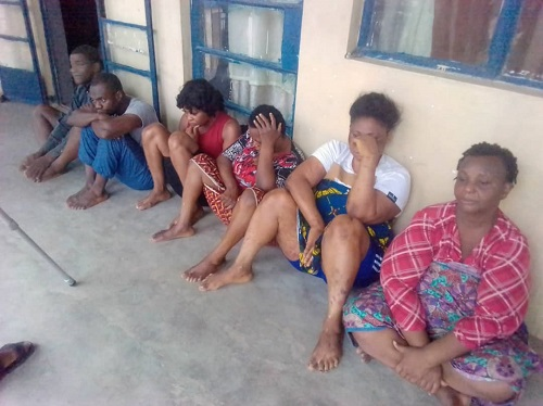 Police arrests six women for child trafficking in Imo, rescue 10 stolen children (photo)