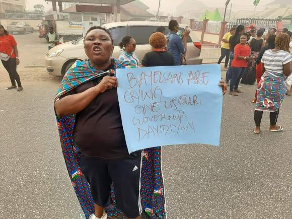 BREAKING: Protests rock Bayelsa over Supreme Court judgement