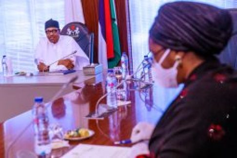 [object object] PHOTOS: Buhari meets COVID-19 Presidential Committee PRESIDENT BUHARI METS CORONAVIRUS COMMITTEE ON THE ECONOMY B 255x170