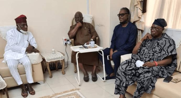 odumakin-obasanjo-pays-afenifere-leader-adebanjo-condolence-visit