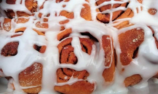 Cinnayamyumbuns a sweet potato cinnamon roll