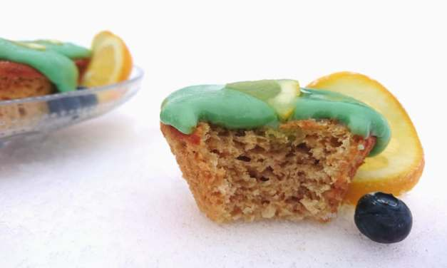 Super delicious lemon and ginger cupcakes with green tea frosting