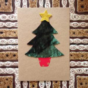 Bohemian Star Cards Christmas Tree Velour