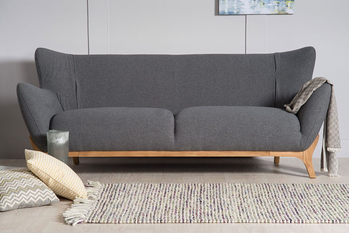 Wesley Contemporary 3 Seater Sofa The Natural Furniture