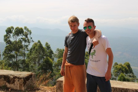 In India, our group and I stayed in the southern state of Kerala the entire time, and we spent most of our time in local national parks and nature reserves. Here is me with my buddy Michael Collett near the beautiful town of Munnar.