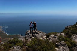 My buddy Michael Collett and I on top of of Table Mountain in Cape Town. Table Mountain National Park is home to the Cape Floral Region, one of six of the world's floral kingdoms.