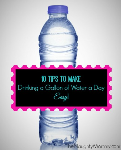 10 tips to make drinking a gallon of water a day easy