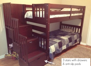 Bunk bed stairs with drawers