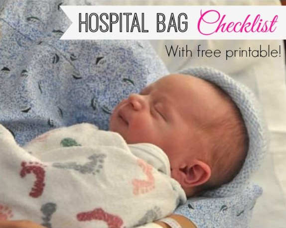 Hospital Bag Checklist - TheNaughtyMommy.com