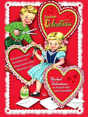 vintage valentines press out book - Valentines Day Book