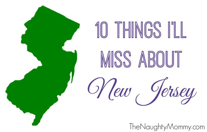 10 Things I'll Miss About NJ