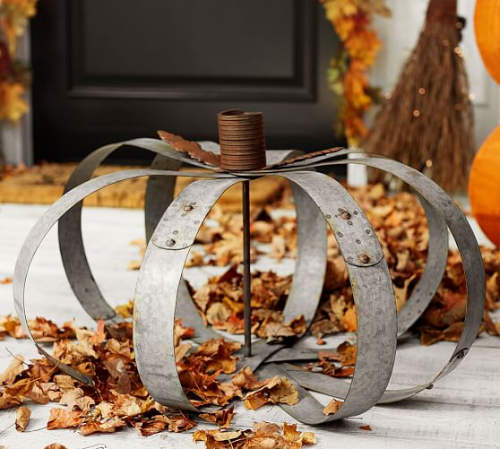 DIY Galvanized Pumpkin, shared by The Navage Patch at The Chicken Chick's Clever Chicks Blog Hop