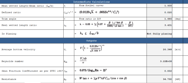 Video 3 Planing Vessel Resistance Calculator TheNavalArch Excel