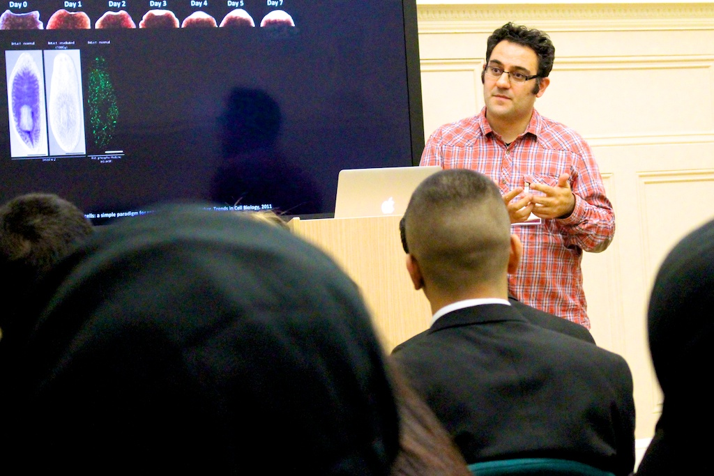 Dr Aziz Aboobaker From Oxford University Delivers Lectures On Planeria For Students At Newham Collegiate Sixth Form Centre (The NCS) – In Video