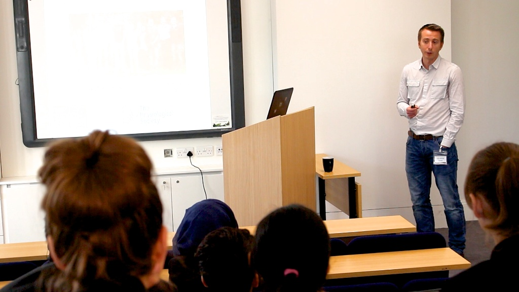 Dr Mark Dallas From Reading University Delivers Lecture On Alzheimers To Students At Newham Collegiate Sixth Form Centre (The NCS)