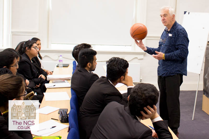 Tony Gardiner Delivering A Maths Lecture At Newham Collegiate Sixth Form Centre (The NCS)