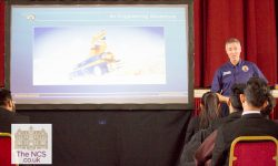 Andy Green Meets Students To Discuss Bloodhound SSC And The Engineering Of Land Speed Records - In Video
