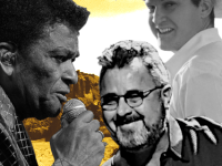 Charley Pride, Vince Gill, John Pardi against a desert backdrop