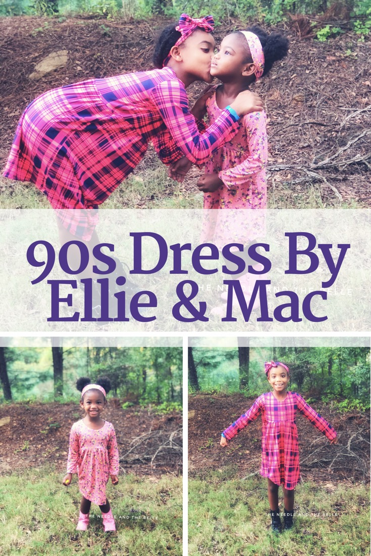 Ready? Set? Sew! Sewing with lining made me nervous until I tried the new girls 90s Dress by Ellie & Mac. It earned 5 needles from me so see why here.