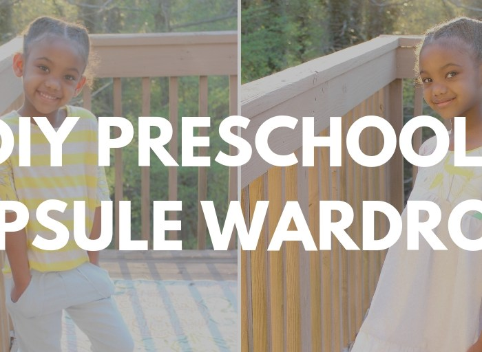 DIY Preschool Girl Capsule Wardrobe