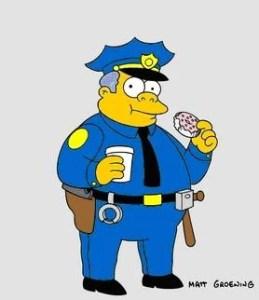 Simpsons Cop