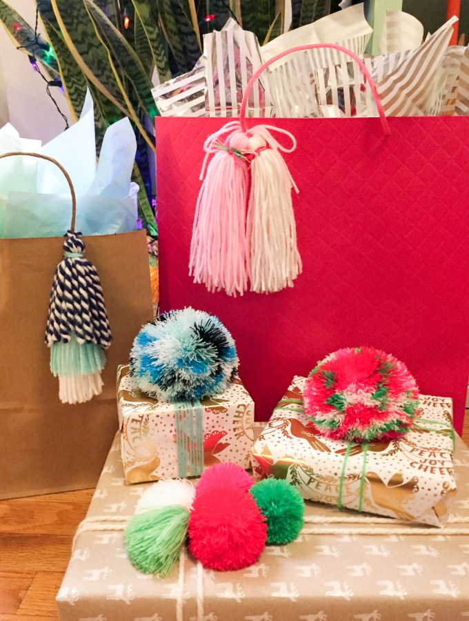 Gift Wrapping with Pompoms & Tassels