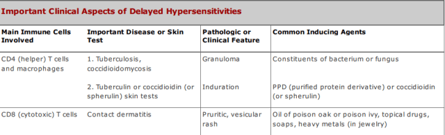 Important clinical aspects of Delayed Hypersensitivity