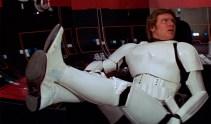 Han wearing Stormtrooper Gear