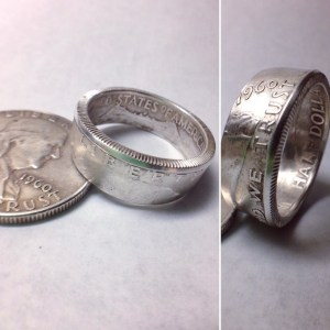 Benjamin Franklin Half Dollar Coin Ring