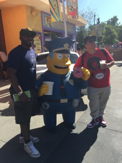 Just checking out the scenery with Chief Wiggums