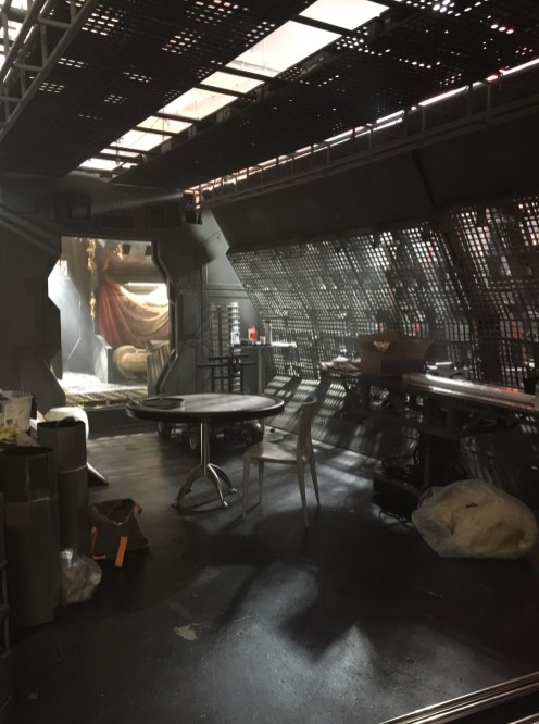 One of the filming sets