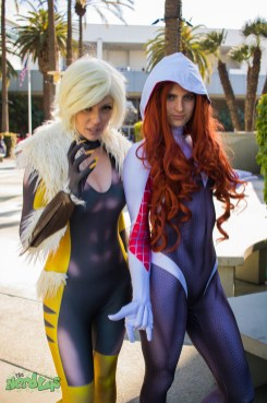 Sabretooth and Spider Gwen (@whoanerdalert and @jokerskisscosplay)