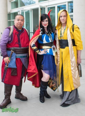 Wong, Dr Strange, and Ancient One