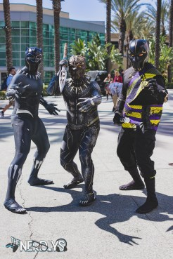 Black Panther Trio (@amazingtcosplay @majin.tom_ @converse_ninja
