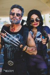 Wolverine and Punisher by @therealweaponx and @vm_cosplays