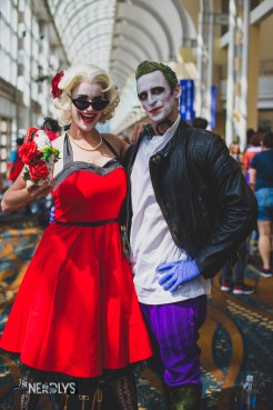 Harley Quinn and Joker (little shop of horrors) by @redtildeaddesign and @thehunterc