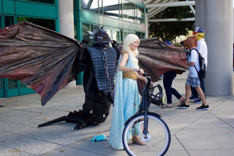 Daenerys and her dragon
