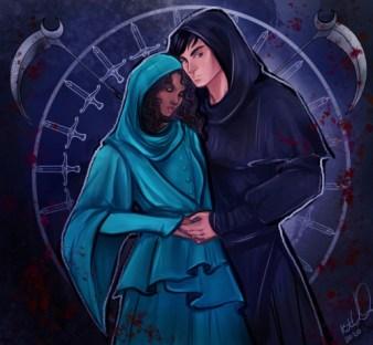 Citra e Rowan, i protagonisti di Falce