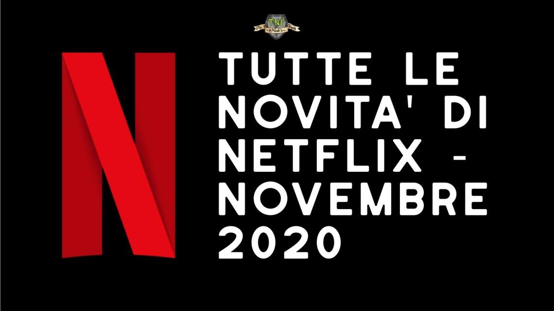 Programmazione Netflix di Novembre 2020