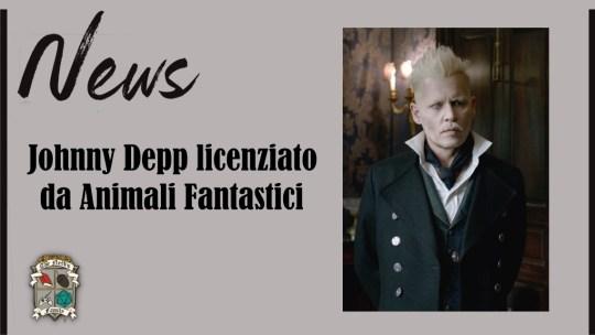 Depp licenziato da Animali Fantastici, la saga di Newt Scamander