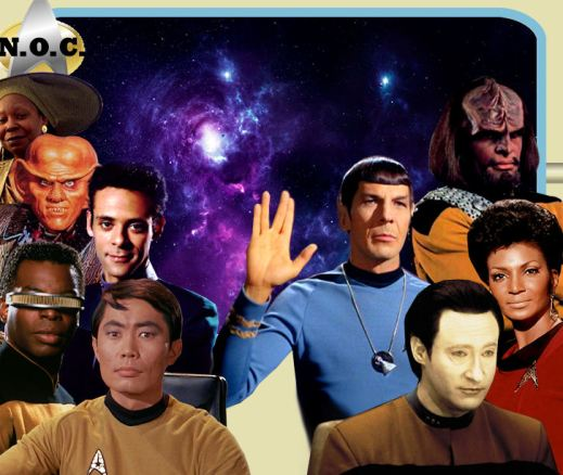 Commander Spark (First Officer), and Quark and Guinan (Barkeeps)
